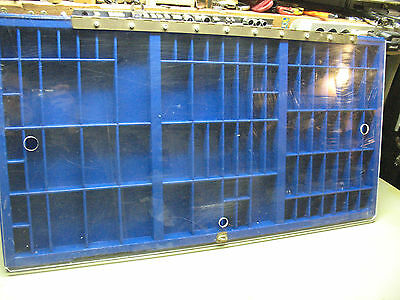 Jewelry Display Case /printer's  Type Tray  Customized  Unique  Neat  Nice Super