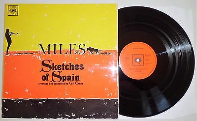 MILES DAVIS ~Sketches of Spain~ 1960 UK  LP ALBUM~ CBS 62104 1Y▽1//2Y▽1  VG+/NM-