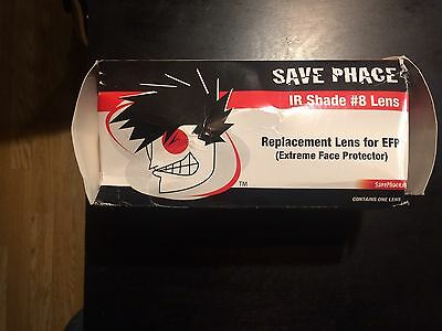 Save Phace Replacement Lens For EFP (extreme Face Protector) IR Shade #8