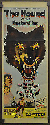 The Hound Of The Baskervilles 1959 Original 14X36 Movie Poster Peter Cushing