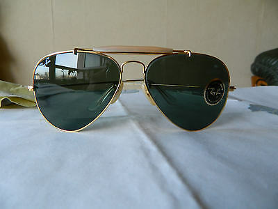 Vintage Rare Ray Ban B&L Aviator OUTDOORSMAN 58 mm G15 lenses orig.case.