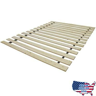 solid wood bed support slats bunkie board full new free ship