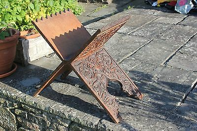 Antique rare wooden carved islamic Koran quran stand. Old & excellent condition