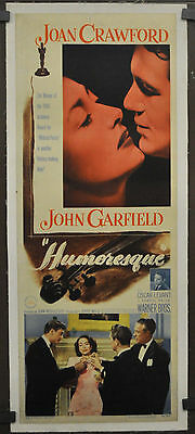 Humoresque 1946 Original 14X36 Linen Backed Movie Poster Joan Crawford
