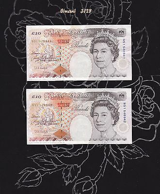 Two Sequential Banknotes > 1992 > KENTFIELD > £10 Note > CRISP
