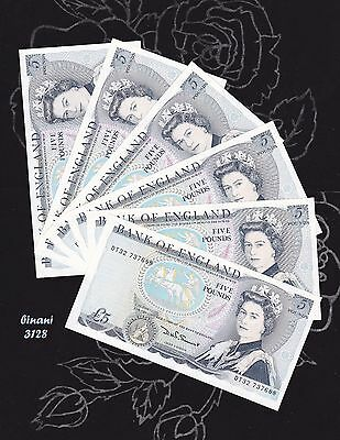 Sequence (6) Banknotes # £ 5 # D H F Somerset # Bank Of England # Crispy