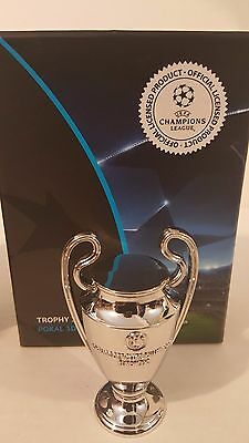 "UEFA Champions League Trophy Replica Metal Miniature 2.5"" Real Madrid Barcelona"