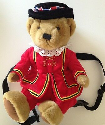 "BEEFEATER BACKPACK Harrods Knightsbridge ER Insignia tush tags only 15""x9"""