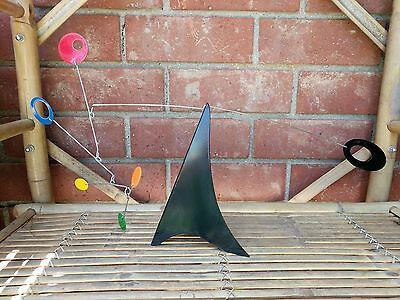 Mid Century Modern Retro Table Kinetic Sculpture Mobile Office Mad Men Style