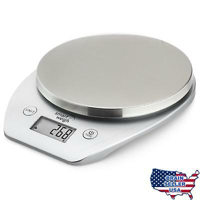 Smart Weigh Multifunction Digital Kitchen and Food Scale with Stainless Steel Pl