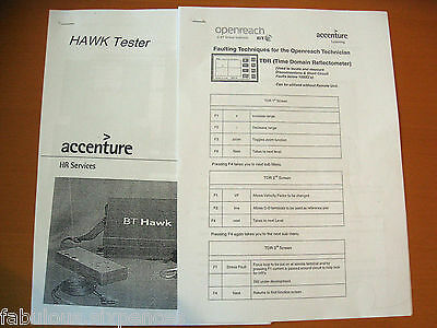 BT HAWK TESTER   SPIRENT COPPERMASTER  USER GUIDES x 2