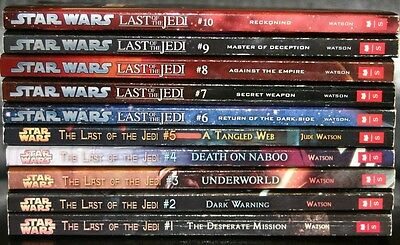 Star Wars Last Of The Jedi Complete Set Of 10 Books.