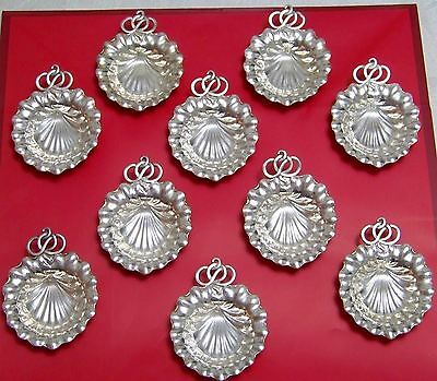Antique Gorham-Durgin 10 Shell Shape Nut-Mint- Place Card Holders Sterling