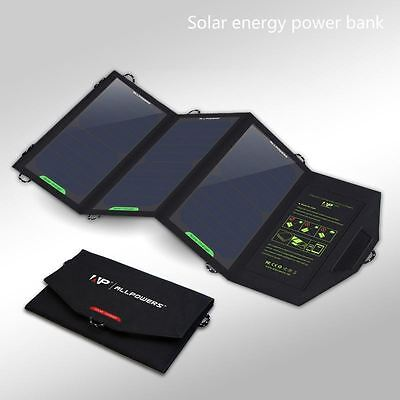 Portable Solar Charger 5V 2.1A - Dual USB Cell Phone/Tablet/Multi Device Charger