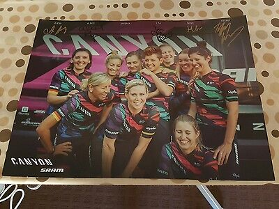 Personally Signed Team Canyon Sram Female  2017 Photo