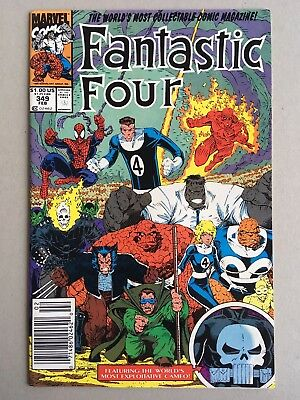 Scarce Newsstand / VF++ Fantastic Four #349 / Arthur Adams / Classic Issue
