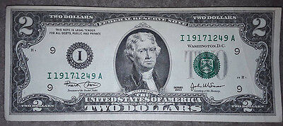 USA: $2 Dollars bill / banknote since 2003 in XF Condition. USD. Minnesota.