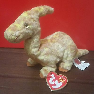 Ty Beanie Babies TOOTER the Dinosaur, with 2002 CANADIAN Tags