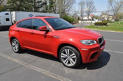 2014 Bmw X6 M 2014 Bmw X6M Red On Black 555 Horsepower, Like Brand New! Reconstructed Title
