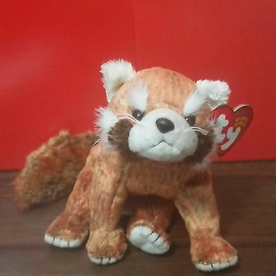 Ty Beanie Babies RUSTY the Red Panda, with 2002 CANADIAN Tags