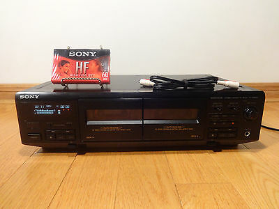 Sony TC-WE405 Dual Stereo Cassette Tape Deck HX-PRO TESTED 100% Works Great!