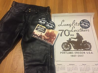 Langlitz Leather Cowhide Western Pants Motorcycle Made in Portland OR USA