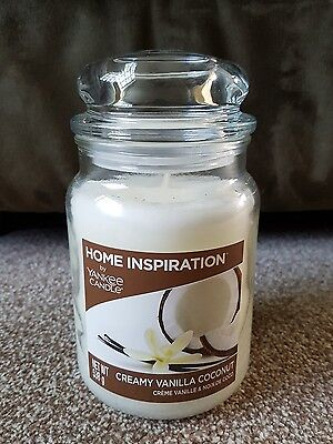 Home Inspiration Large Yankee Candle 538g Creamy Vanilla Coconut