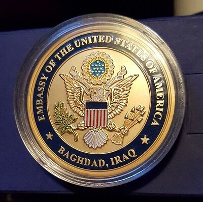 Challenge Coin- U.s. Embassy-Baghdad,iraq- State Department -Rare-Nice