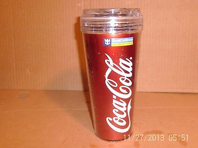 Coca-Cola Royal Caribbean Cruise Line Souvenir Travel Glass SHARE A COKE AT SEA