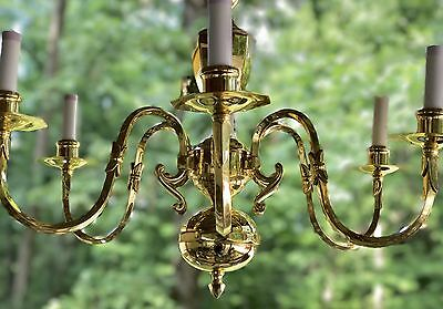 "*SALE**Gorgeous 24"" x 20"" Victorian Art Deco Solid Brass 6 Arm Light Chandelier"
