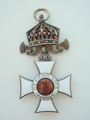 Bulgaria Kingdom Order Of St. Alex Officer In Silver. Hallmarked! Rare Type! Ef