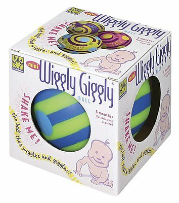 Toysmith Mini Wiggly Giggly Ball Assorted Colors