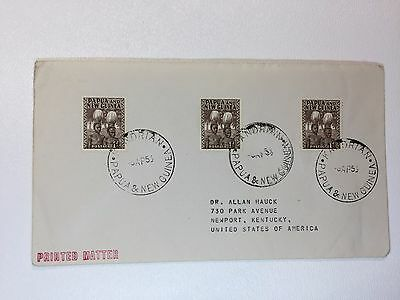 Papua and New Guinea Cover sc#122 to USA 1953 Printed Matter