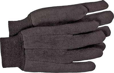 Boss 403L JERSEY BROWN GLOVES 10OZ SIZE LARGE POLY/COTTON BLEND CLUTE CUT DESIGN