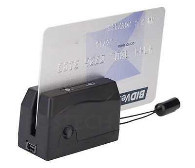 SMALLEST Portable Magnetic Magstripe Card Reader Collector MINI300 dx3 Swipe