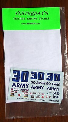 Yesterday's Waterslide Model Decals 1975 #30 GO Army Laguna 7530