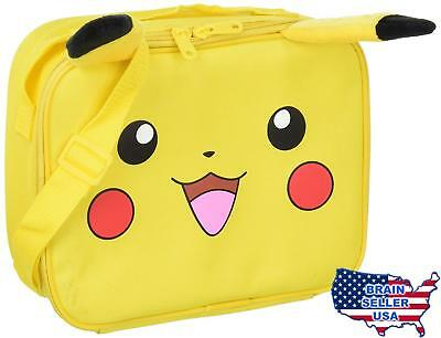 Pokemon Pikachu Deluxe Soft Lunch Box, New, Free Ship