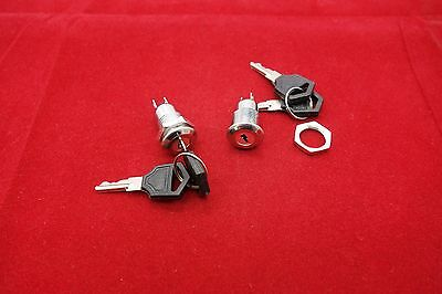 2pcs Cutout Dia. 12mm Metal On/Off Security key switch 2 position 250V AC 1A