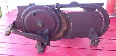 Antique Cast Iron Meat Slicer Sterling #70 H R Streeter Rochester General Store