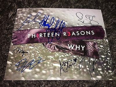 13 Reasons Why signed 8x10 Katherine Langford Dylan Minnette Miles Heizer Gomez