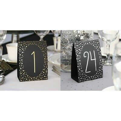 Table Numbers 1-40 Polka Dot Tent Style Wedding Party Table Decorations