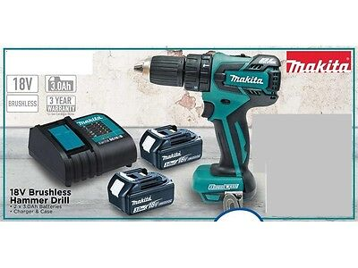 Makita 18V LXT Li-Ion Brushless Hammer Drill Driver Combo Kit AUS MODEL DHP459