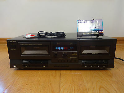 Technics RS-TR232 Dual Cassette Tape Deck HX-PRO 1992 Japan TESTED 100% Works