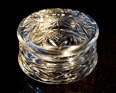 Beautiful Heavy Crystal Round Box