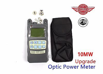 Upgrade Fiber Optic Cable Tester -70 to +10dbm Portable Optic Power Meter Sc Fc