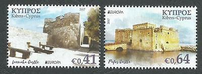 Cyprus Stamps 2017 Europa Castles MINT PERFECT (MNH) New