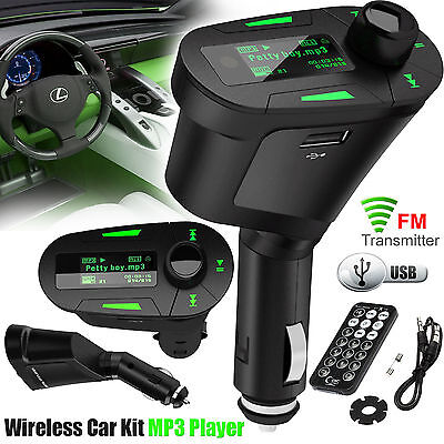 2017 Car Mp3 Player Wireless FM Radio Transmitter USB SD Card Remote Smartphones