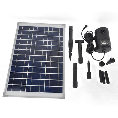 Outdoor Garden 20W Solar Power Fountain Pond Pool Submersible Water Pump Kit