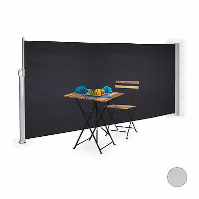 Side Awning Bilateral Blinds Outdoor Screen Panel 160 x 300 cm Wind Protection