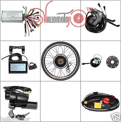 "48v 1500w 26"" Threaded Rear Wheel Ebike Conversion Kit with Sine Wave Controller"